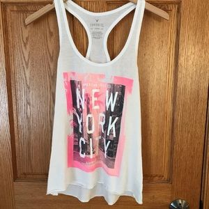 American Eagle NYC racer back tank. Sz XS.
